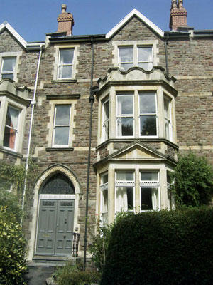 front view of Clifton Towers Bed and Breakfast, Bristol